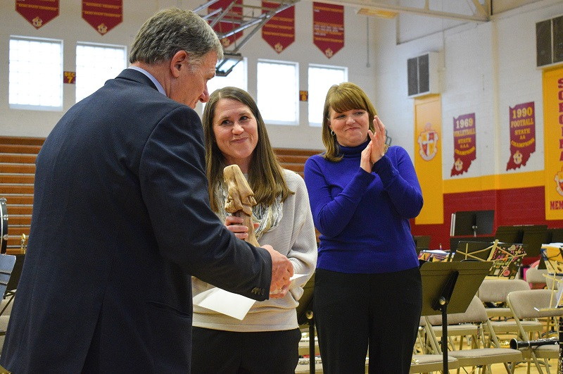 Scecina teacher Amy Fix wins Archdiocese of Indianapolis' highest honor for educator